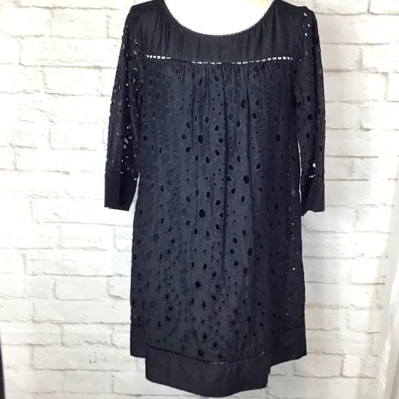 Ella Moss Dresses & Skirts - ELLA MOSS Eyelet Cotton/Silk blend mini dress